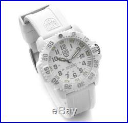 $395 LUMINOX Navy Seal WHITEOUT 200 Meter Silicone Band Swiss Watch 3057. WO