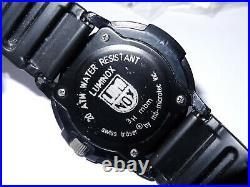 43mm Luminox Navy Seals Black Dial 200M Watch Tritium (3H MBM) Luminous