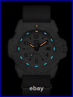 AUTHORIZED DEALER Luminox 3257 Navy Seal Steel Nylon Strap 45mm Case Watch