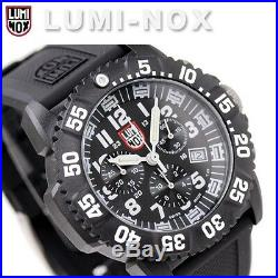 EMS Free! Luminox Colormark Navy Seals 3081 Mens Chronograph Watch Divers New
