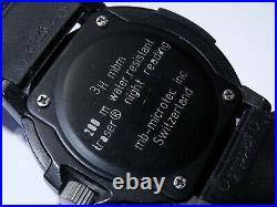 Early 43mm Luminox Navy Seals Black Dial 200M Watch Tritium (3H MBM) Luminous