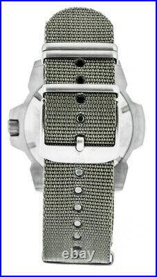 LLUMINOX Navy SEAL 45MM SS Gray Webbing Strap Men's Watch XS. 3257