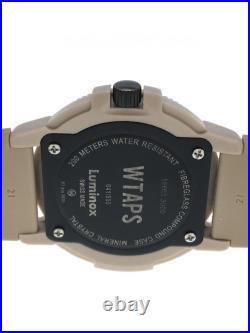 LUMINOX Ã WTAPS 17AW NAVY SEALS 3000 WATCH Analog Rubber Brown Quartz 3000 Serie