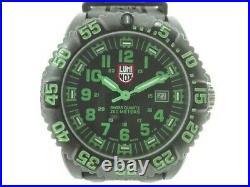LUMINOX LUMINOX Navy SEALs 3050/3950 200m green black carbon rubber Mi