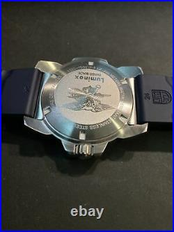 LUMINOX NAVY SEAL STEEL, 3250 3253, Blue Dial, Blue Rubber Strap, EXCELLENT