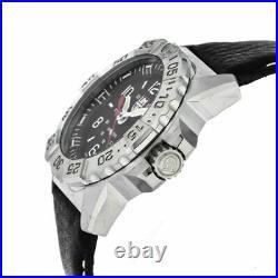 LUMINOX Navy SEAL Steel 45MM SS Black Leather Men's Watch XS. 3251