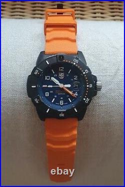 LUMINOX Navy Seal 3600 Series Quartz Watch, Blue, Carbon, 45 mm, 20 atm, XS. 3603