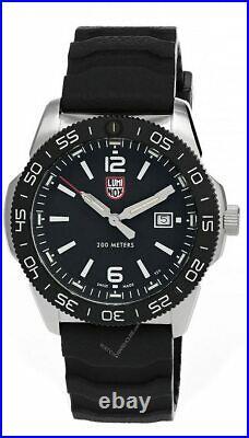 LUMINOX Navy Seal 44MM Quartz SS Black Dial Silicone Men's Watch XS. 3121