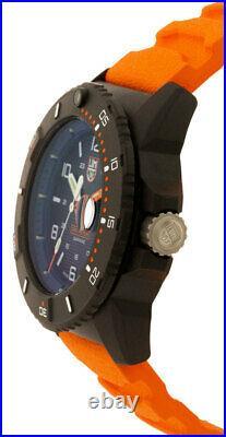 LUMINOX Navy Seal 45MM Blue Dial Orange Strap Men's Watch XS. 3603