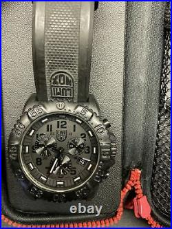 LUMINOX Navy Seal Colormark Chronograph Watch XS. 3081. BO. F Blackout