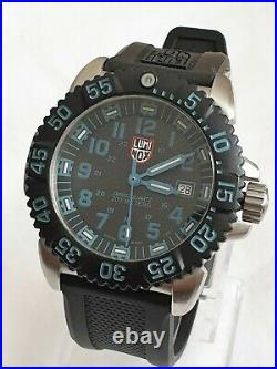 LUMINOX Navy Seal Colourmark Sea Blue 3153 Stainless Steel Watch Mint As New