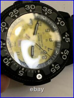 LUMINOX ORIGINAL NAVY SEALS SERIES 3000 WATCH Yellow & Black With New Battery