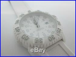 LUMINOX Quartz Navy Seals 3050-3950 White Dial White Silicone Strap Dive Watch