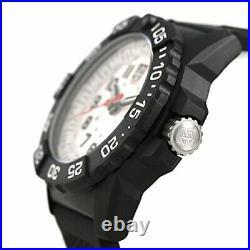 LUMINOX watch Navy SEALs 3500 Series white × black 3507 Men's