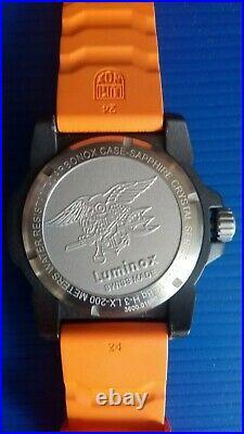 Luminox 200m Navy Seal Men's Watch Series 3600 Model XS3603 Black Carbonex
