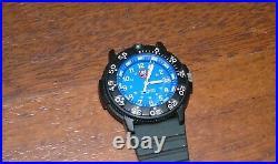 Luminox 3000/3900 Watch Navy Seals Blue Face Divers Resin Body Swiss Working