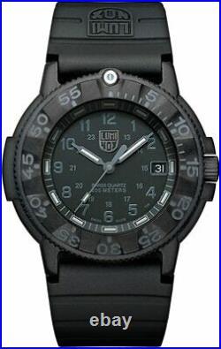 Luminox 3001. BO Black Dial Original Navy Seal Dive 43mm Carbon Case Men's Watch
