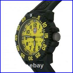 Luminox 3055. LM Men's Navy Seal Colormark Yellow Dial Black Rubber Strap Watch