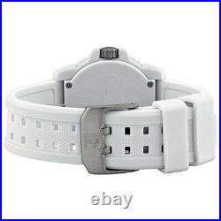 Luminox 3057. WO Men's Navy Seal Colormark White Dial White Silicone Strap Watch