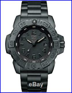 Luminox 3252 All Black Combat Navy Seal Steel Swiss Made Sapphire SS 200M Watch