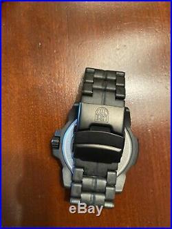 Luminox 3502. BO Navy Seal Trident Quartz Black Carbon Compound 45mn Watch NEW