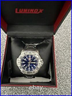 Luminox 6100/6200 Series Navy Seals Watch Stainless Steel Blue Dial