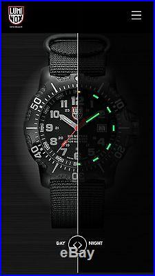 Luminox Authorized For Navy Use (anu) 45mm Blk Stainless Steel Case Night Vision