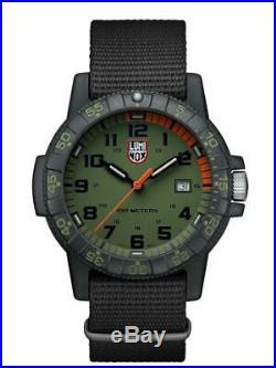 Luminox LEATHERBACK SEA TURTLE GAINT Green Dial NATO Band Men's Watch XS. 0337