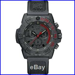 Luminox Men's Navy Seal Chronograph 3580 Series Red/Black Watch XS. 3581. EY