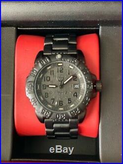 Luminox Men's Navy Seal Series 3150 Black Out PVD SS Watch