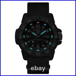 Luminox Men's Watch Carbon Seal 3800 Navy Blue Dial Quartz Date Strap 3803