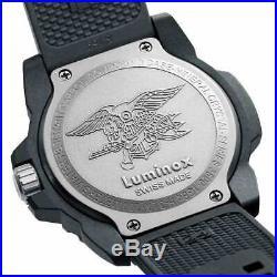 Luminox Men's Watch Navy Seal 3500 Series Black Silicone Rubber Strap 3501. BO