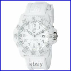 Luminox Men's Watch Navy Seal Colormark Dive White Dial Silicone Strap 3057. WO
