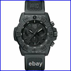 Luminox Men's Watch Navy Seal Quartz Chronograph Black Dial Strap 3581. BO