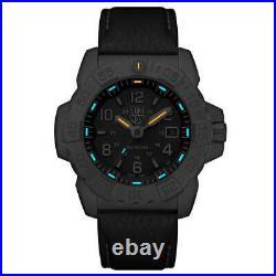 Luminox Men's Watch Navy Seal Steel 3250 Series Men's Black Leather Strap 3251