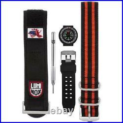 Luminox Men's Watch Navy Seal Swiss Quartz Orange Dial Black Strap 3059. SES