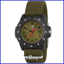 Luminox Men's Watch Set Navy Seal 3600 Series Green Dial Strap 3617. SET