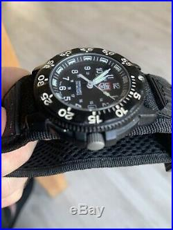 Luminox Mens Original Navy SEAL 3001 Military Black Dive Watch