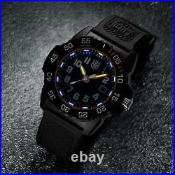 Luminox Navy SEAL 3500 Series Quartz Blue Dial Black Strap Men Watch XS. 3503. NSF