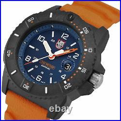 Luminox Navy SEAL Quartz Blue Dial Orange Rubber Strap Men's Watch XS. 3603