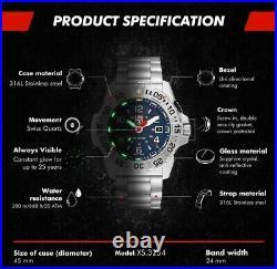 Luminox Navy SEAL Quartz Blue Dial Silver Steel Men's Watch XS. 3254