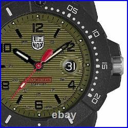 Luminox Navy SEAL Quartz Green Dial Black Rubber Strap Men's Watch XS. 3617. SET
