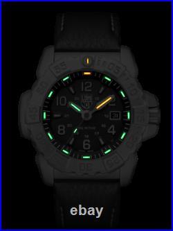 Luminox Navy SEAL Steel Black Leather 3250 Series Mens Watch XS. 3251 £495