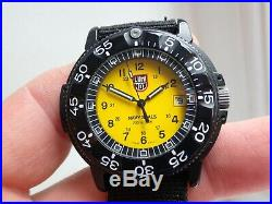 Luminox Navy Seal 200M Divers Watch Rare Yellow Dial Swiss Traser by Mb Microlec