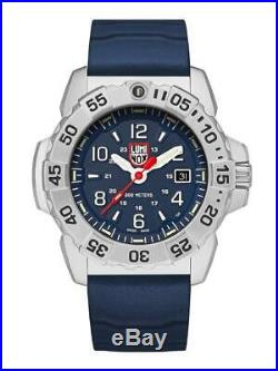 Luminox Navy Seal 3250 ST Steel Blue Dial Rubber Band Men's Diver Watch XS. 3253