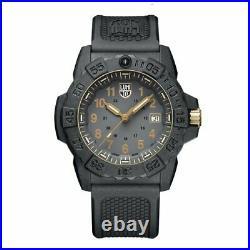 Luminox Navy Seal 3500 CARBONOX Gray Dial Rubber Band Men's Watch XS. 3508. GOLD