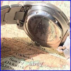 Luminox Navy Seal 3600 all Titanium Quartz Diver Rare Silver Dial