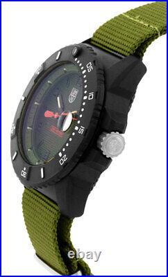 Luminox Navy Seal 45mm Green Dial Green Strap Men's Watch XS. 3617. SET