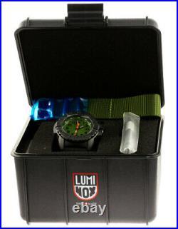 Luminox Navy Seal 45mm Green Dial Rubber/Green Strap Men's Watch XS. 3517. NQ. SET