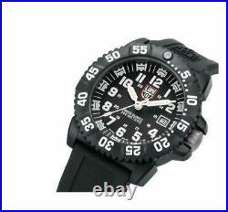 Luminox Navy Seal Black Silicon Band Black Dial Mens Watch